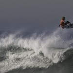 Parko busting big air at the 2011 Rip Curl Pro, Ocean Beach, San Francisco